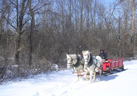 Union County Indiana - Sleigh Ride in Whitewater State Park