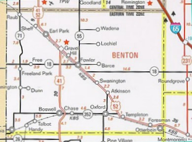 Benton County Indiana - Map